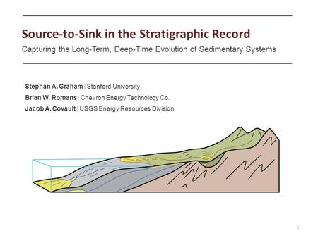 1 Source-to-Sink in the Stratigraphic Record Capturing the Long-Term, Deep-Time Evolution of Sedimentary Systems Stephan A. Graham  Stanford University.