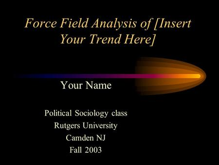 analysis of the field of sociology