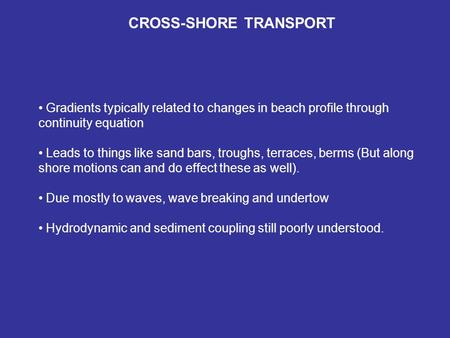 CROSS-SHORE TRANSPORT