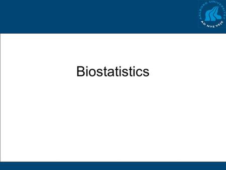 Biostatistics. But why? Why do we read scientific litterature? How do we read scientific litterature?