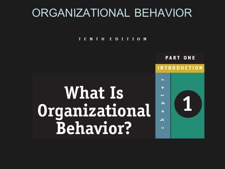 ORGANIZATIONAL BEHAVIOR T E N T H E D I T I O N. What Managers Do  Get things done through other people  Make decisions, allocate resources, and direct.