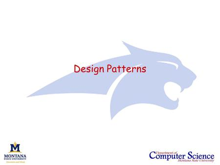 Design Patterns. CS351 - Software Engineering (AY2007)Slide 2 Behavioral patterns Suppose we have an aggregate data structure and we wish to access the.