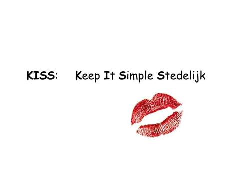 KISS: Keep It Simple Stedelijk. Moodle & IMS/LD.