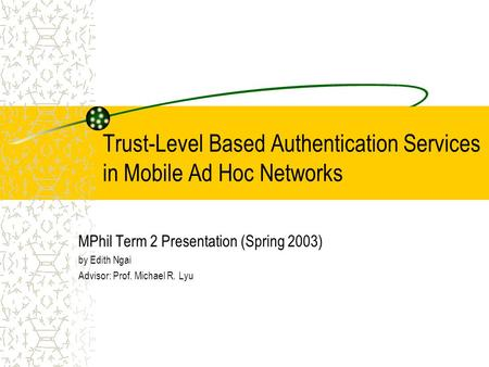 Mobile ad hoc network routing
