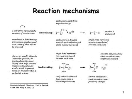 1 Reaction mechanisms. 2 Ionic Reactions 3 4 5.