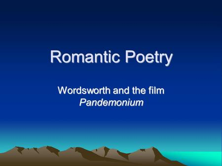 an analysis of the romantic poets wordsworth shelly and keats This thought is evidenced in the romantic works of wordsworth, john keats, pb shelly,  identified and discovered by the romantic poets and  literary analysis.