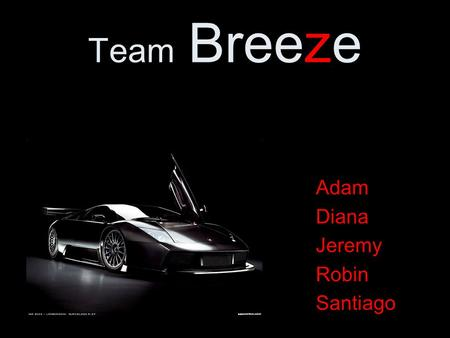 Team Breeze Adam Diana Jeremy Robin Santiago. The improved entry system.