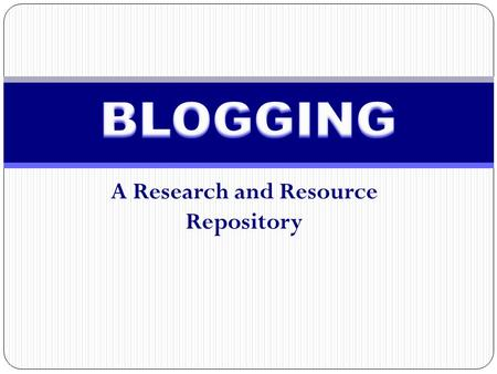 A Research and Resource Repository. A reverse-chronologically ordered sequence of entries on a particular topic or concept. Individual entries written,
