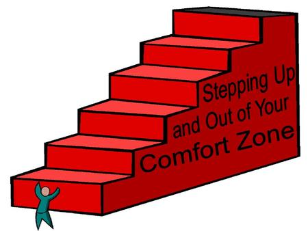 "Definition of Comfort Zone ""…our living, work, and social environments that we have grown accustom too. It determines the type of friends we make or people."