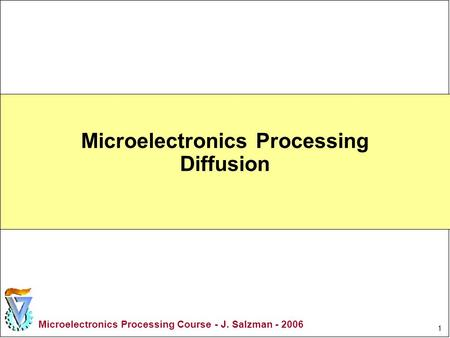 Microelectronics Processing