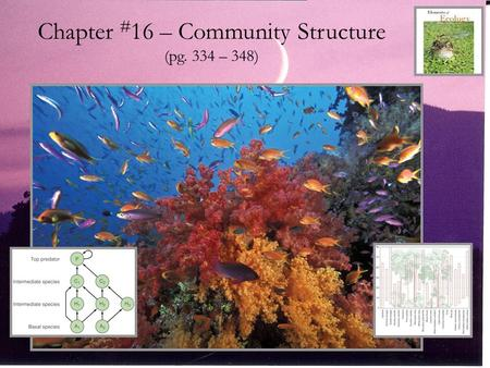 Chapter #16 – Community Structure