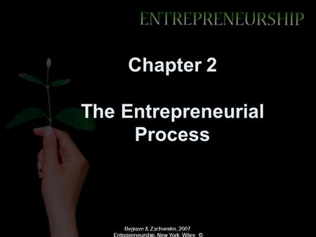 Chapter 2 The Entrepreneurial Process