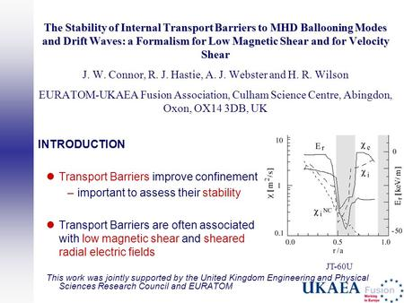 The Stability of Internal Transport Barriers to MHD Ballooning Modes and Drift Waves: a Formalism for Low Magnetic Shear and for Velocity Shear The Stability.