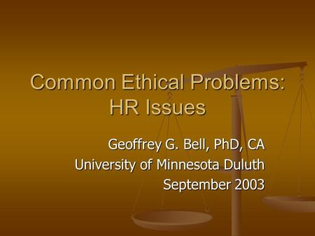 ethical issues firing employees
