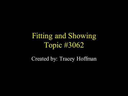 Fitting and Showing Topic #3062