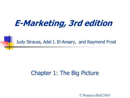 Chapter 1: The Big Picture