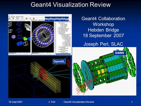 Geant4 Visualization Review