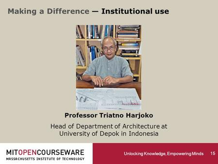 Unlocking Knowledge, Empowering Minds Professor Triatno Harjoko Head of Department of Architecture at University of Depok in Indonesia Making a Difference.