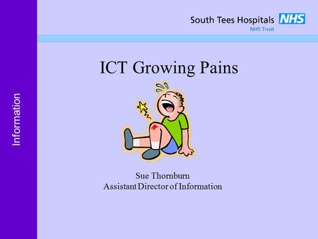 Women and Children Information ICT Growing Pains Sue Thornburn Assistant Director of Information.