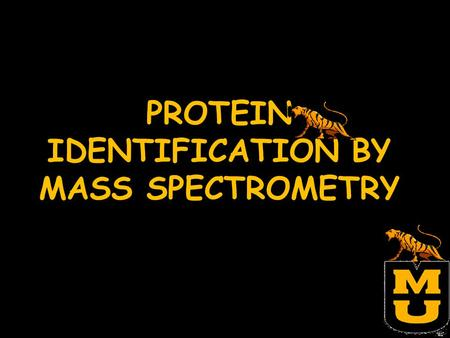 PROTEIN IDENTIFICATION BY MASS SPECTROMETRY. OBJECTIVES To become familiar with matrix assisted laser desorption ionization-time of flight mass spectrometry.
