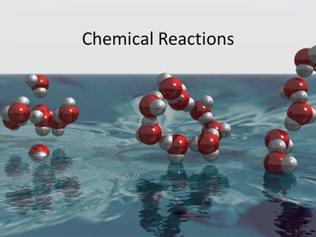 Chemical Reactions. Chemical Equation Used to represent a chemical reaction that has occurred. It contains the chemical names or the chemical formulas.