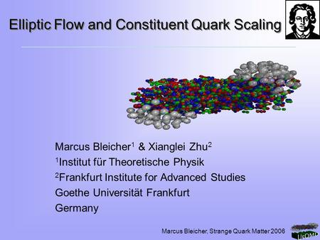 Elliptic Flow and Constituent Quark Scaling