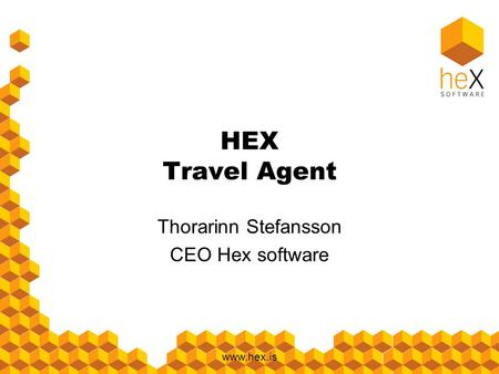Www.hex.is HEX Travel Agent Thorarinn Stefansson CEO Hex software.
