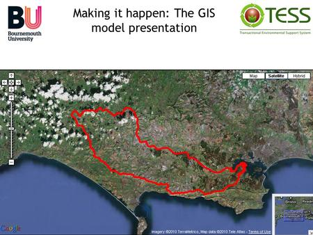 Making it happen: The GIS model presentation. GIS systems allow for the collection, presentation and analysis of spatial data During the study, ArcGIS.
