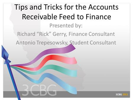 Tips and Tricks for the Accounts Receivable Feed to Finance