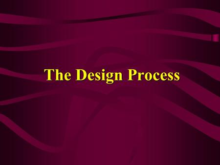 The Design Process. Analysis Think – what should the final design do? List customer requirements Consider constraints – balance tradeoffs Define specifications.