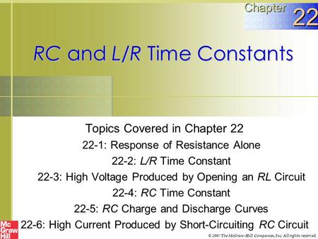RC and L/R Time Constants