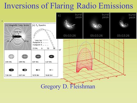 Inversions of Flaring Radio Emissions. Gregory D. Fleishman.