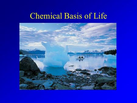 Chemical Basis of Life. Chemistry Matter is made up of separate chemical components. –Chemistry = Interactions between atoms/molecules. Biological function.