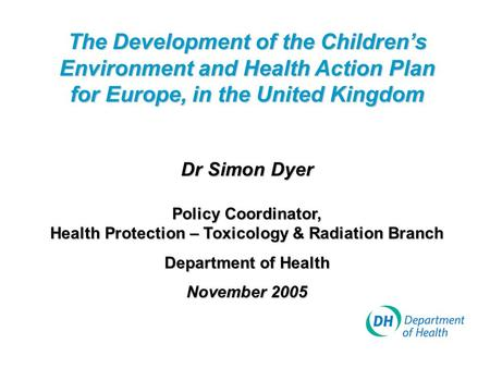Health Protection – Toxicology & Radiation Branch