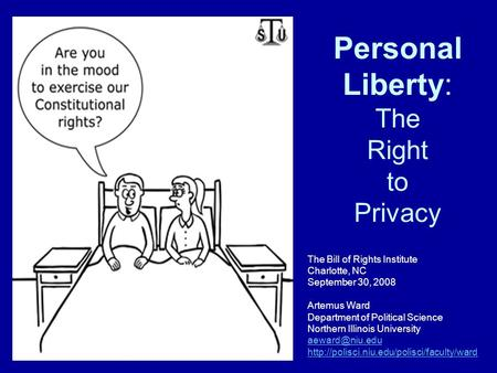 Personal Liberty: The Right to Privacy
