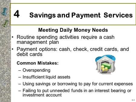 4 Savings and Payment Services