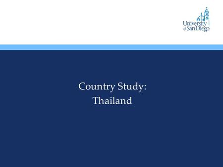Country Study: Thailand. Overview Thailand was never colonized. A constitutional monarchy was established in 1932 Military Coups are common and play an.