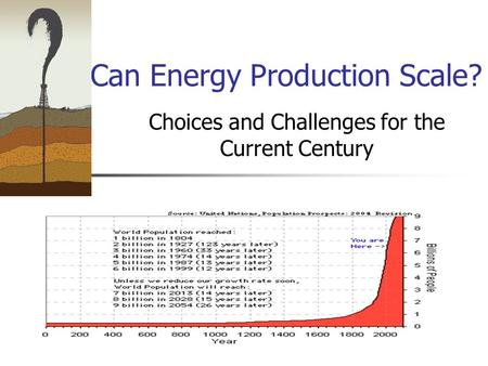 Can Energy Production Scale? Choices and Challenges for the Current Century.