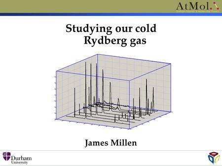 Studying our cold Rydberg gas James Millen. Level scheme (5s 2 ) 1 S 0 461nm 32MHz (5s5p) 1 P 1 (5sns) 1 S 0 (5snd) 1 D 2 Continuum ~413nm Studying our.