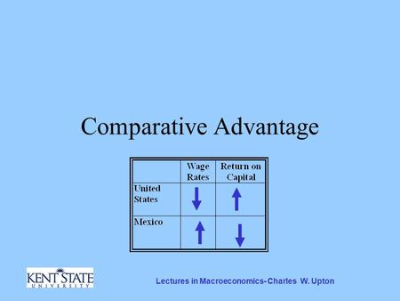 Lectures in Macroeconomics- Charles W. Upton Comparative Advantage.