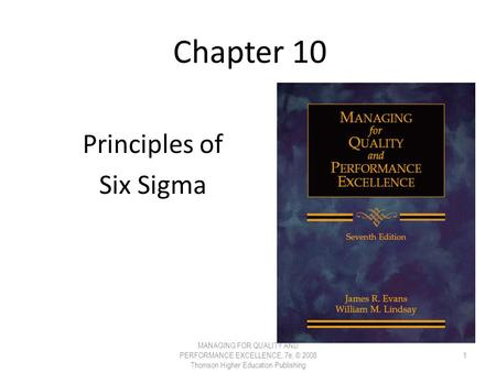 Principles of Six Sigma