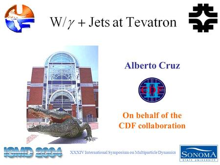 XXXIV International Symposium on Multiparticle Dynamics Alberto Cruz On behalf of the CDF collaboration.