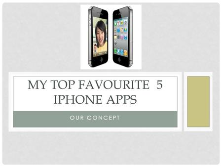 OUR CONCEPT MY TOP FAVOURITE 5 IPHONE APPS. VLOGS Video blogging, which is sometimes shortened to vlogging is a form of blogging through videos, as well.