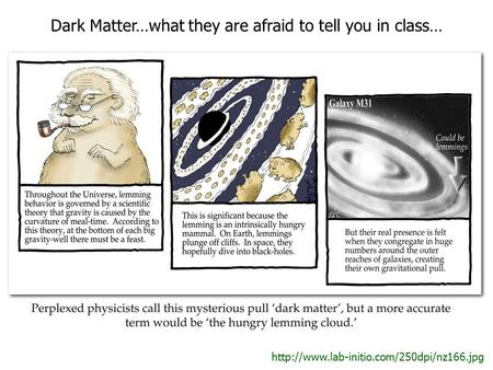 Dark Matter…what they are afraid to tell you in class…