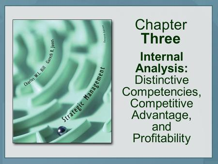 Chapter Three Internal Analysis: Distinctive Competencies, Competitive Advantage, and Profitability.