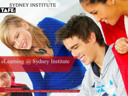 Sydney Institute. Ambition in Action  Presenter: cc licensed flickr photo by sridgway: