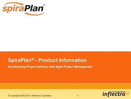 SpiraPlan® - Product Information