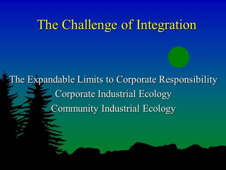 expanding the limits of social responsibility