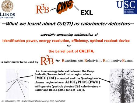 Especially concerning optimization of identification power, energy resolution, efficiency, optimal readout device for the barrel part of CALIFA, a calorimeter.