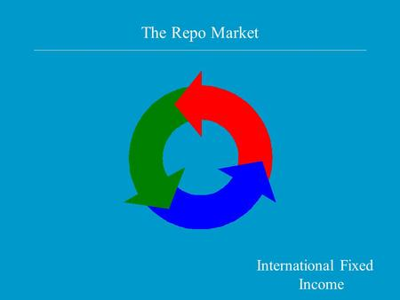 The Repo Market International Fixed Income. Readings Repo's gone global and hip Innovation is the key Merrill Lynch guide to international repo.